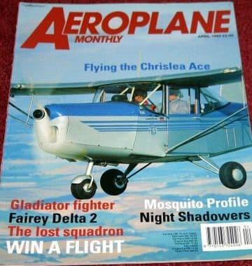 Aeroplane Monthly Magazine 1992 April Gloster Fairey FD2,Chrislea Ace,Zeppelin