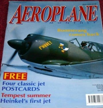 Aeroplane Monthly Magazine 1992 July Boomerang,Tempest,Canberra,Breguet 763,DH9A