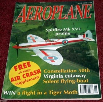 Aeroplane Monthly Magazine 1993 June Constellation,Virginia,Pitcairn,Fokker,Solent