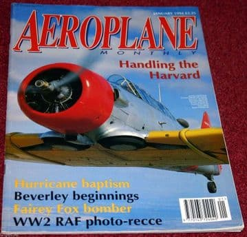 Aeroplane Monthly Magazine 1994 January Hurricane,HP88,Harvard,Fox