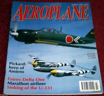Aeroplane Monthly Magazine 1994 March Fairey FD1,Argus,Marathon,N3N,Fairey IIIF