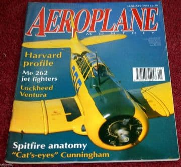 Aeroplane Monthly Magazine 1995 January Me262,Spitfire,Overstrand,Harvard,Ventura