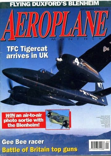 Aeroplane Monthly Magazine 1996 September Tigercat,Gee Bee,Meteor,Boulton Paul