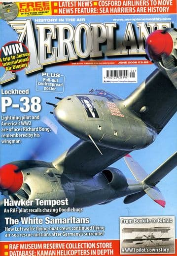 Aeroplane Monthly Magazine 2006 June P-38 Lightning,Sea Harrier,Kaman Helicopters
