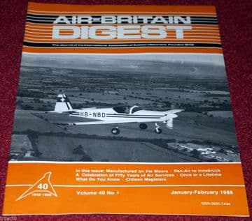 Air Britain Digest Magazine 1988 January-February Dan-Air,T-67,Isles of Scilly,Miles Magister