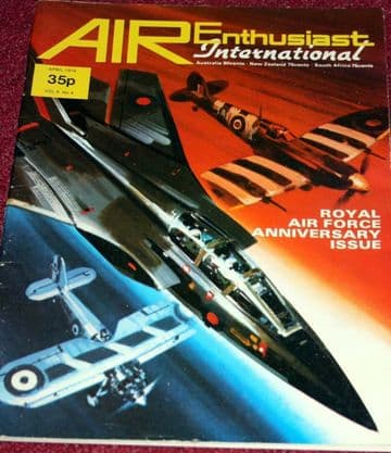 Air Enthusiast Magazine 1974 April Royal Air Force,Sopwith Snipe,Hendon Museum
