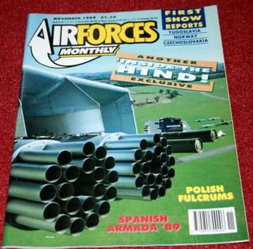 Air Forces Monthly Magazine 1989 November Poland,Harrier,Buffalo,115 Squadron