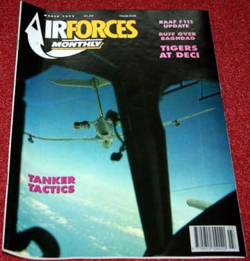 Air Forces Monthly Magazine 1992 March B-52,RAF Phantom.RAAF F-111