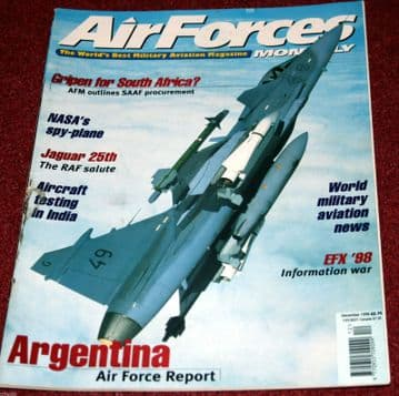 Air Forces Monthly Magazine 1998 December Jaguar,Argentina,SAAF
