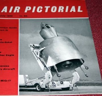 Air Pictorial Magazine 1959 July Meta-Sokol,Fisher Eagle,Japan.Mig-17,FB12