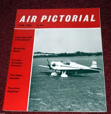 Air Pictorial Magazine 1960 June Bf109,French Homebuilts,PA-23,He112,Viscount