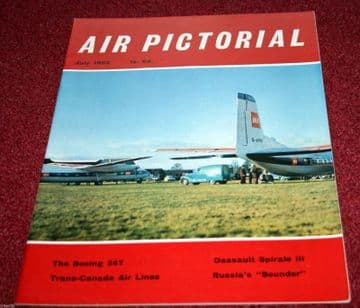 Air Pictorial Magazine 1962 July Boeing 247,Trans Canada Airlines,93rd BW