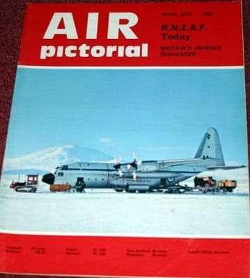 Air Pictorial Magazine 1973 April Royal New Zealand Air Force RNZAF,HS125