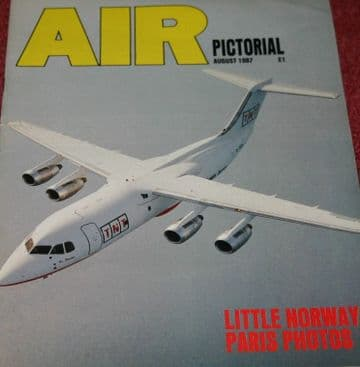 Air Pictorial Magazine 1987 August Norwegian Air Force,PA46,BAe 146QT,RAF Valley