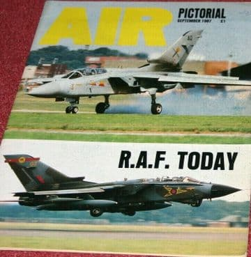 Air Pictorial Magazine 1987 September Royal Air Force,Aden,Comet,Norway,Bf110