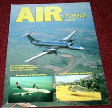 Air Pictorial Magazine 1989 February Canberra,Air Seychelles,Boeing 727,Sycamore