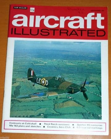 Aircraft Illustrated Magazine 1971 September Coventry,Coltishall Lightning,Spitfire,Westland Wessex