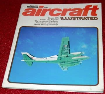 Aircraft Illustrated Magazine 1972 March Silver City Airways,Sandringham,Canberra,Beagle