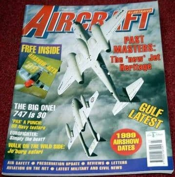 Aircraft Illustrated Magazine 1999 March Boeing 747,Typhoon