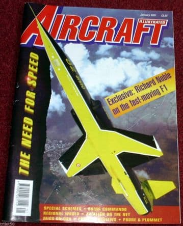 Aircraft Illustrated Magazine 2001 January  C-46 Commando,Noble,Hungary,Czech,Poland