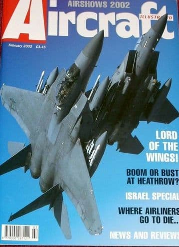 Aircraft Illustrated Magazine 2002 February Israeli Air Force,Lakenheath,Hunter