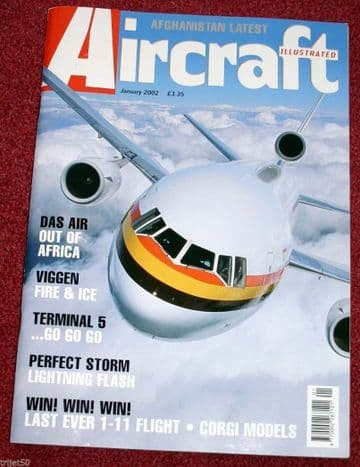 Aircraft Illustrated Magazine 2002 January DAS DC10,Viggen,A-4 Skyhawk,BA 747,Lightning
