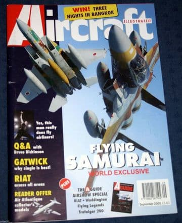 Aircraft Illustrated Magazine 2005 September Scandinavian MD82,JASDF,London Gatwick