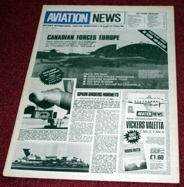 Aviation News Magazine 11.6 RCAF Lahr Baden Solingen,De Havilland Venom