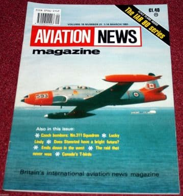 Aviation News Magazine 19.21 IAR80 Scale Plans,CT-133,Emil