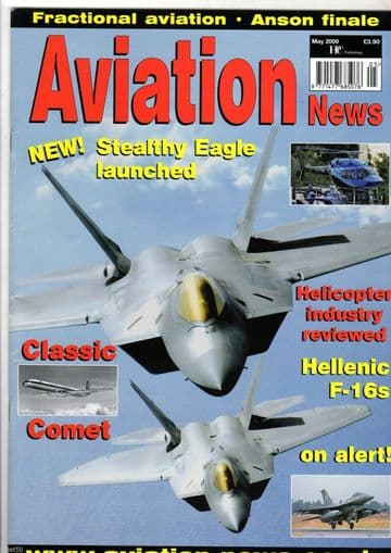 Aviation News Magazine 2009 May Greek Air Force F-16,Continental Airlines,Gloster
