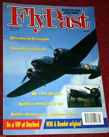 Flypast Magazine 1993 July Spitfire,South African Air Force SAAF,Bf109,An-2
