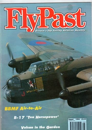 Flypast Magazine 1994 August Battle of Britain Memorial Flight,Vulcan,Desford,P-61,F-8F Bearcat,C-47