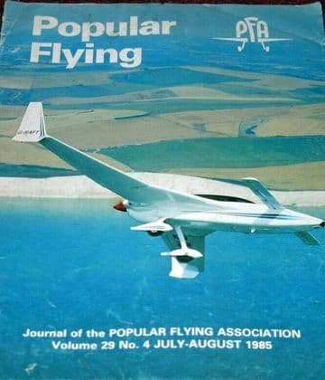 Popular Flying Magazine 1985 July-August Quickie Q2,Wallis,Fere