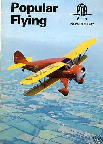 Popular Flying Magazine 1987 November-December DH Moth Rally