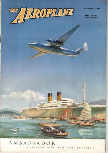 The Aeroplane Magazine 1948 September 10th Viscount,Idelwild,Farnborough,Convairliner,Toulouse