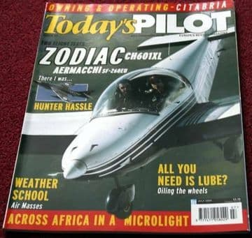 Todays Pilot Magazine 2004 July Zodiac,Citabria,SF360,Twister