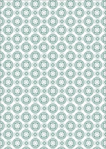 Arabesque Teal AR04 Chocolate Transfer Sheet (tempered white chocolate only)