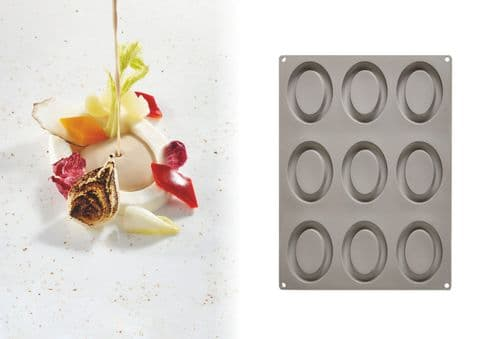 GG007 - Ovale Pavoni Gourmand Silicone Mould