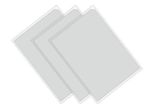 Plain Chocolate Transfer Sheets - (TEMPERED WHITE CHOCOLATE ONLY)