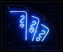 2 of spades, hearts Neon Sign