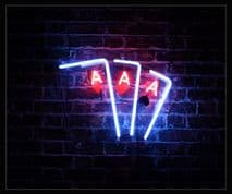 3 Aces Neon Sign