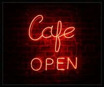 Cafe Open Neon Sign