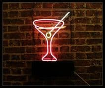 Cocktail Glass Neon Sign