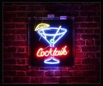 Cocktails 2 Neon Sign