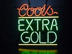 Coor's Extra Gold Neon Sign