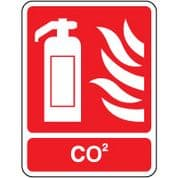 Fire Safety Sign - Fire CO2 021
