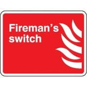 Fire safety sign - Fire Fireman's Switch 084