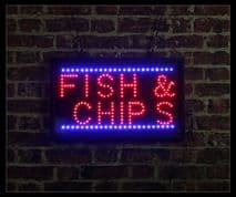 Fish & Chips LED Sign
