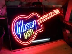 Gibson U.S.A Neon Sign