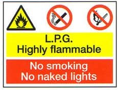 L.P.G Highly Flammable